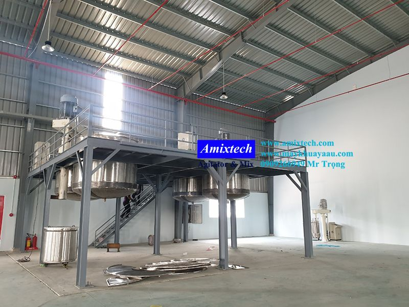 hệ thống sàn thao tác sản xuất nước sơn