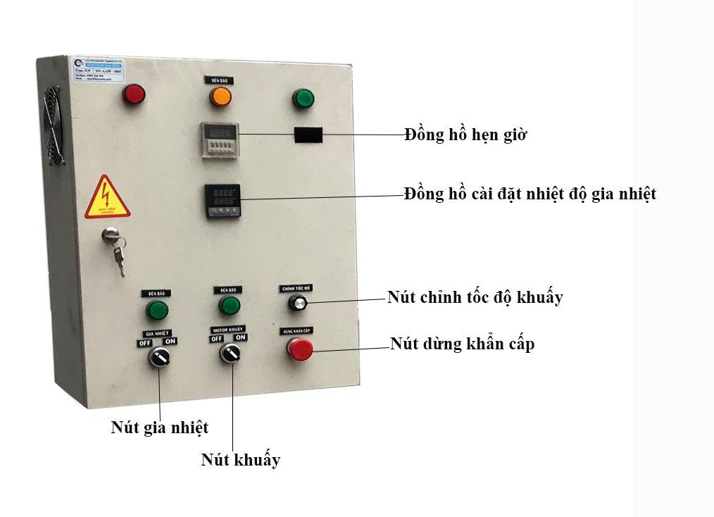tủ điện của bồn khuấy gia nhiệt